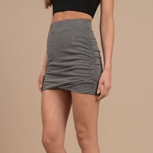 Tobi S Charcoal Mini Skirt